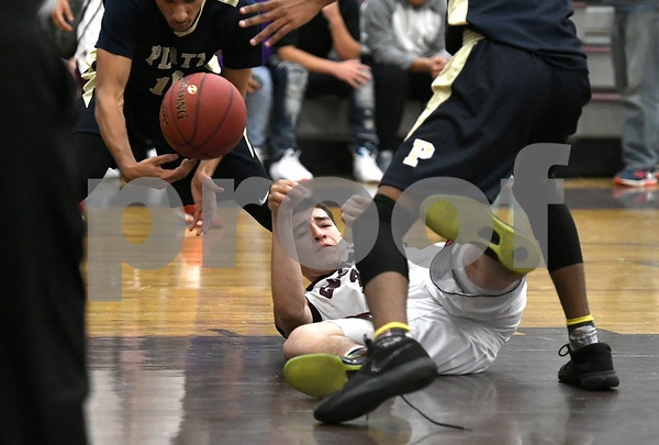 2/1/2018 Mike Orazzi | Staff Bristol Central's Ryan Rodriguez (35) during Thursday night's boys basketball game with Platt at BC.