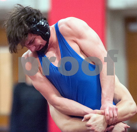 02/09/18 Wesley Bunnell | Staff Matt Jacobson of Southington wrestling in a 183lb match during the Central Connecticut Conference Wrestling Tournament at Berlin High School on Friday night.