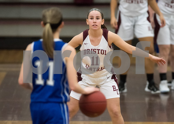 02/12/18 Wesley Bunnell | Staff Bristol Central vs Bristol Eastern on Senior Night at Bristol Central High School. Bristol Central's Ashley Macdonald (11).