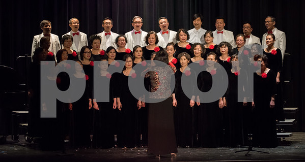 02/12/18 Wesley Bunnell | Staff CCSU presented a 2018 Chinese New Year Celebration at Torpe Theatre, Davidson Hall on Monday night to bring in the Year of The Dog. The All Connecticut Chinese Chorus, ACCC, performed Flower and Youth and Butterfly Lovers. The chorus received the Silver Award at the 2014 New York Chinese Chorus Competition and was referred to as &quote;an influential chorus in North America&quote;.