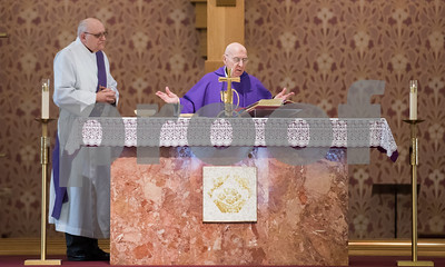 02/14/18  Wesley Bunnell | Staff  Parishioners of St. Ann Church in Bristol attended afternoon mass on Ash Wednesday.  Deacon Roger Albert, L, and Father Robert Russo.