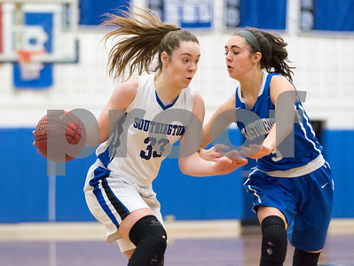 02/26/18  Wesley Bunnell | Staff  Southington girls basketball fell 61-54 to visiting Glastonbury in the first round of the LL state tournament. Janette Wadolowski (33).