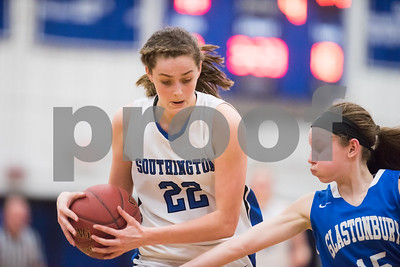 02/26/18  Wesley Bunnell | Staff  Southington girls basketball fell 61-54 to visiting Glastonbury in the first round of the LL state tournament. Kelley Marshall (22).