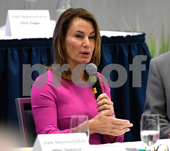 2/21/2018 Mike Orazzi | Staff State Rep. Themis Klarides during the Central Connecticut Chambers of Commerce  2018 Legislative Breakfast held at the DoubleTree by Hilton Hotel Bristol in Bristol Wednesday morning.