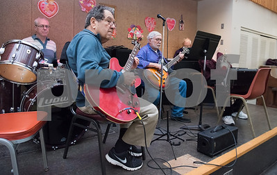 02/21/18  Wesley Bunnell | Staff  A band plays live music for seniors at the New Britain Senior Center on Wednesday afternoon. Shown is Joe Donato on guitar.