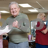 02/21/18  Wesley Bunnell | Staff<br /> <br /> Winifred Hutchins dances with Joseph Smyk to a live band at the New Britain Senior Center on Wednesday afternoon. Joseph turns 97 in approximately 2 weeks.