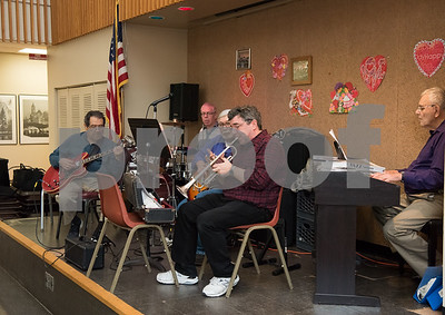 02/21/18  Wesley Bunnell | Staff  A band plays live music for seniors at the New Britain Senior Center on Wednesday afternoon.