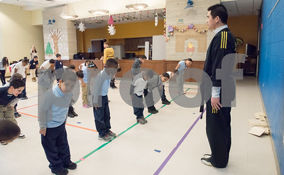 02/22/18  Wesley Bunnell | Staff  Master Hyung Yang from Yang's U.S. Taekwondo Academy in Newington gave demonstrations on Thursday 2/22 at Lincoln School which involved teachers and elementary students.