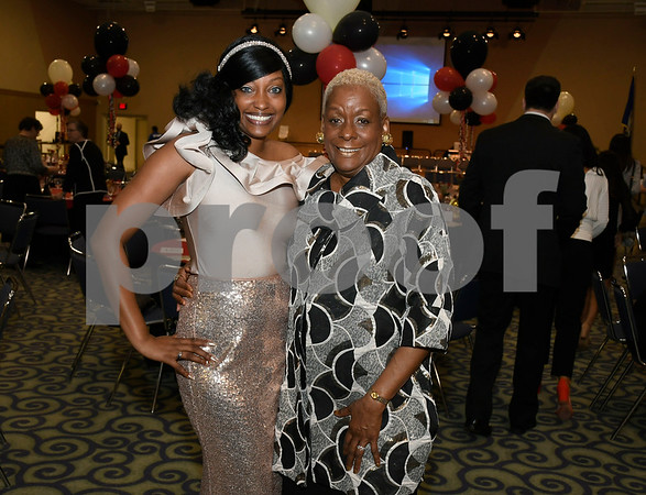 2/24/2018 Mike Orazzi | Staff Marchelle Pendelton and her mother Paulette Fox during the Women of Influence Gala held at CCSU Saturday evening in New Britain.
