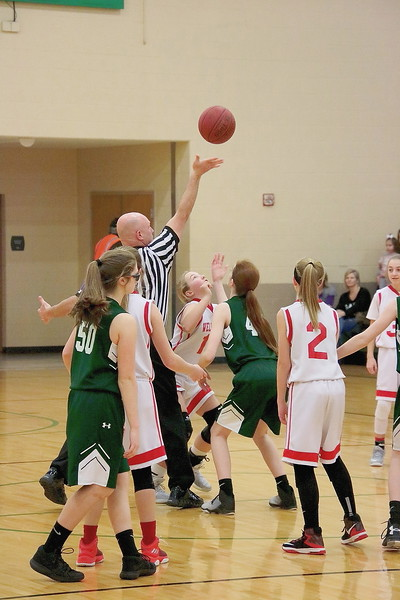 WMS 7/8 Girls Basketball 020318 @ Mulvane MS