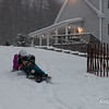 We opened the fence for sledding!