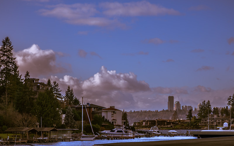Seattle -from Bellevue, Lake Washington