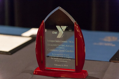 02/06/19  Wesley Bunnell | Staff  The Southington YMCA held their 90th Annual Celebration and Recognition dinner at the Aqua Turf Club on Wednesday evening.  The Healthy Living Award sits on the table ready to be presented.