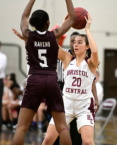 2/8/2019 Mike Orazzi | Staff Bristol Central's Gwen Torreso (20) during Friday night's girls basketball game with Innovation.