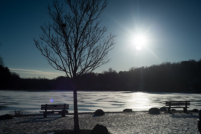 02/01/19  Wesley Bunnell | Staff  The late afternoon sun over a frozen Paper Goods Pond in Berlin on Friday afternoon.