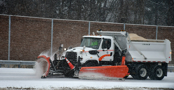 2/12/2019 Mike Orazzi | Staff A State of Connecticut plow on Route 72 in Plainville during Tuesday's storm.