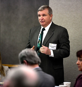 2/12/2019 Mike Orazzi | Staff Carl Schiessl, Senior Director, Regulatory Advocacy at Connecticut Hospital Association, during the President's Forum Breakfast Tuesday morning at Bristol Hospital.