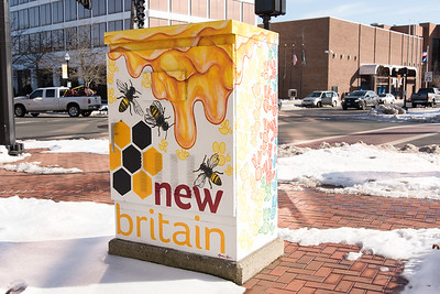 02/13/19  Wesley Bunnell | Staff  An electrical box which is part of many painted throughout the city sits on the corner of Main St and West Main St. near city hall.