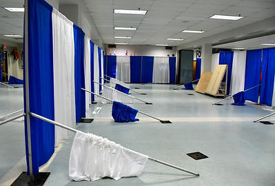 2/15/2019 Mike Orazzi | Staff Set up for the 34th Annual Home and Business Show at Bristol Eastern High School.