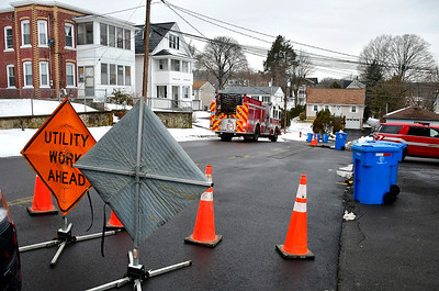2/15/2019 Mike Orazzi | Staff The scene of a second gas leak on Norton Street this week in Bristol.