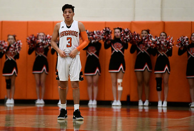 2/15/2019 Mike Orazzi | Staff Terryville High School's Albert Molina (3) during Friday night's boys basketball game with Housatonic Regional in Plymouth.