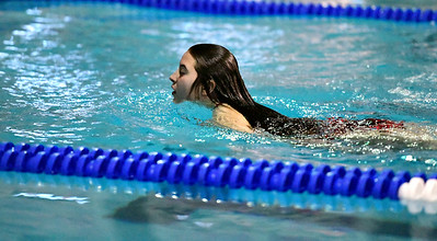 2/19/2019 Mike Orazzi | Staff Bristol Swim Team's Marissa Stone dives during Tuesday's meet with Middletown in Bristol.