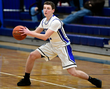 2/21/2019 Mike Orazzi | Staff Southington's Ryan Gesnaldo (2) during the CCC Boys Basketball Tournament in Southington Thursday night.