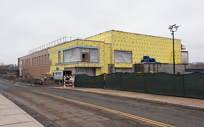 02/07/19  Wesley Bunnell | Staff  Work on the Huang Family Recreation Center at CCSU on Thursday afternoon.