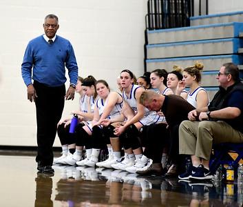 2/9/2019 Mike Orazzi | Staff Bristol Eastern's Tony Floyd during Saturday's girls basketball game in Bristol.