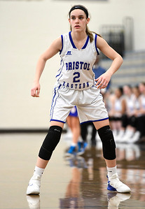 2/9/2019 Mike Orazzi | Staff Bristol Eastern's Paige McLaughlin (2) during Saturday's girls basketball game in Bristol.