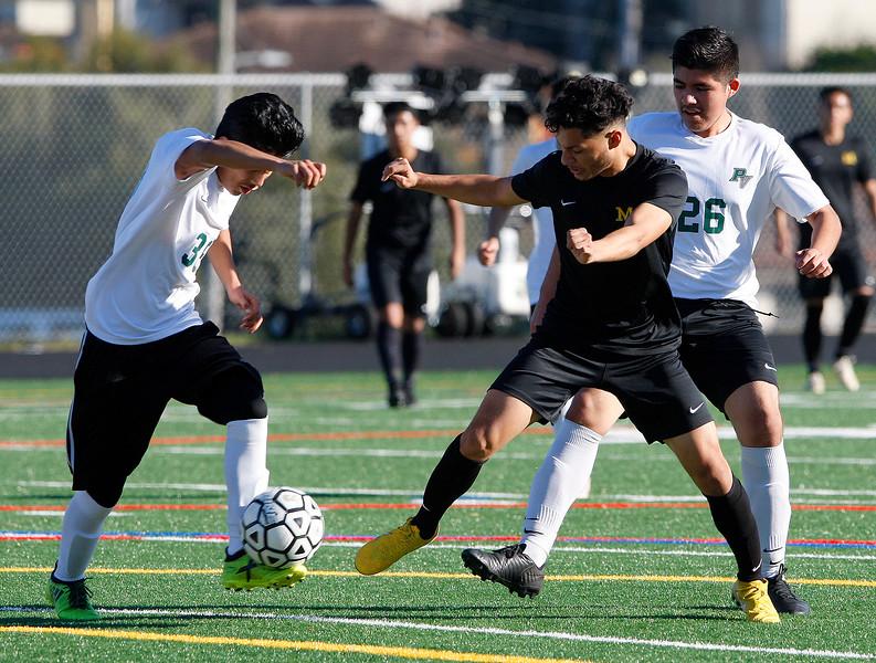 Monterey High vs Pajaro Valley High, boys soccer