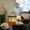 DWR acting Director Bill Croyle talks with members of the media as the Lake Oroville Dam Spillway emergency continues in Oroville, Calif. Frid. Feb. 17, 2017. (Bill Husa -- Enterprise-Record)