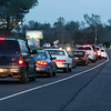 Traffic piled up along Highway 162 near Lower Wyandotte Road as residents evacuated on Feb. 12, 2017 in Oroville. (Emily Bertolino -- Enterprise-Record)
