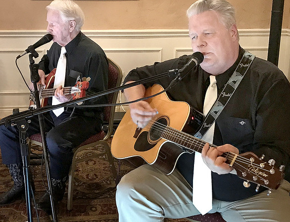 KEVIN HARVISON | Staff photo<br /> Members of the Sunset Band perform before the start of the annual Pride in McAlester Volunteer Appreciation Banquet held Thursday at the McAlester Country Club.