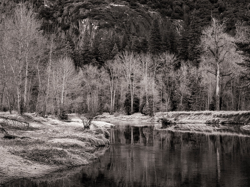 bw river, yosemite