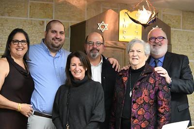 Rabbi David Lipper and members of his family following his installation service at Temple Kol Tikvah.
