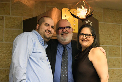 Rabbi David Lipper, his wife Dora, and their son.