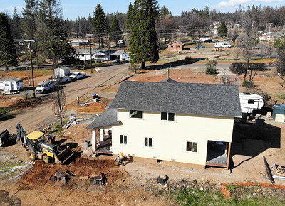 An aerial view of new home construction Wedensday near Pearson Road in Paradise. (Matt Bates -- Enterprise-Record)