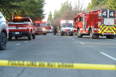 A portion of Forest Avenue was blocked to traffic after a deadly crash Wednesday in Chico. (Matt Bates -- Enterprise-Record)