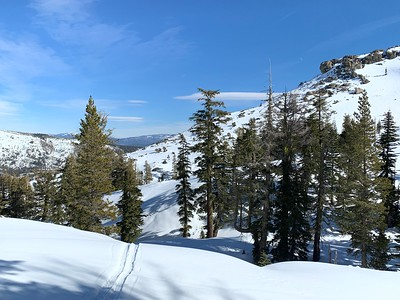 The area near Donner Peak, pictured on Feb. 1, is a popular spot for backcountry skiers and avalanche safety students. (Camille von Kaenel -- Enterprise-Record)