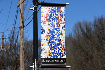 Artist Franklin Kernes' piece is located on Main Street  near the Famous Toastery.