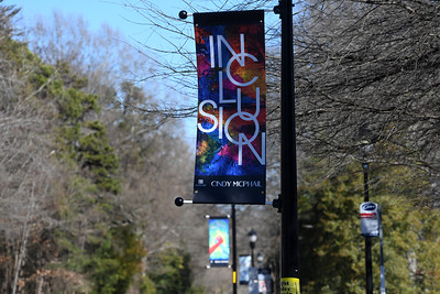 The Davidson Public Arts Commission banner installation is a walking art tour along Griffith Street and Main Street. Get out and take a look.