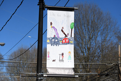 Young artist Katie Kieley's artwork is located on Main Street north of the intersection of Concord Road.