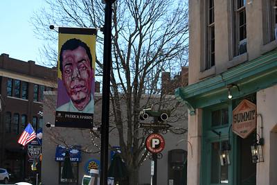 Artist Patrick Harris' piece is located on Main Street in front of Main Street Books, near Summit.