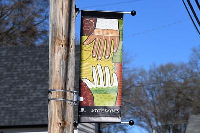 Artist Joyce Wynes' piece is located on S. Main near Restaurant X.