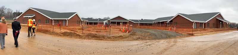 A panoramic photo of the front of the facility.
