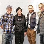Billy Wages, Peggy Sue Howard, Jason Crowder and Stewart Hoertz at Zephyr Gallery.