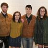 Gan Frederick, Abbey Smith, Chris Brown and Emily Carpenter at Zephyr Gallery.