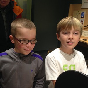 Conall and Liam at the Museum of Life and Science