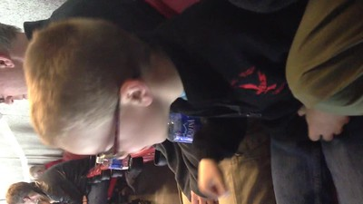 conall singing at the hurricanes game